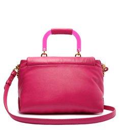 Bolsa Tiracolo Grande Treasure Couro Pink