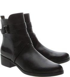 Flat Boot Cano Médio Black