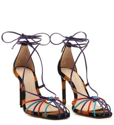 Sandália Lace-Up Zebra Colors