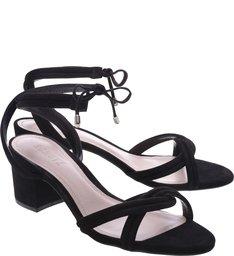 Sandália Block Heel Strings Black
