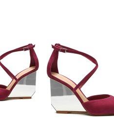 Sapato Scarpin Anabela Espelho Pink