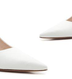 Scarpin Slingback Mid Heel White