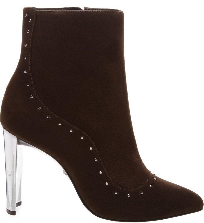 Bota Glam Metallic Heel Brown