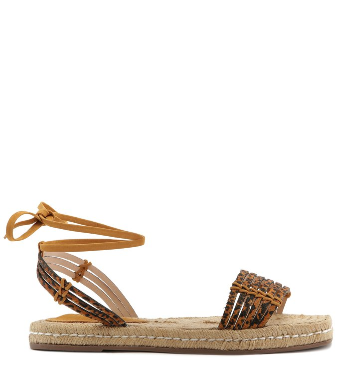 FLAT ESPADRILLE LACE-UP WILD PONY