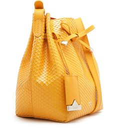 EMILY MINI BUCKET BRIGHT SNAKE YELLOW