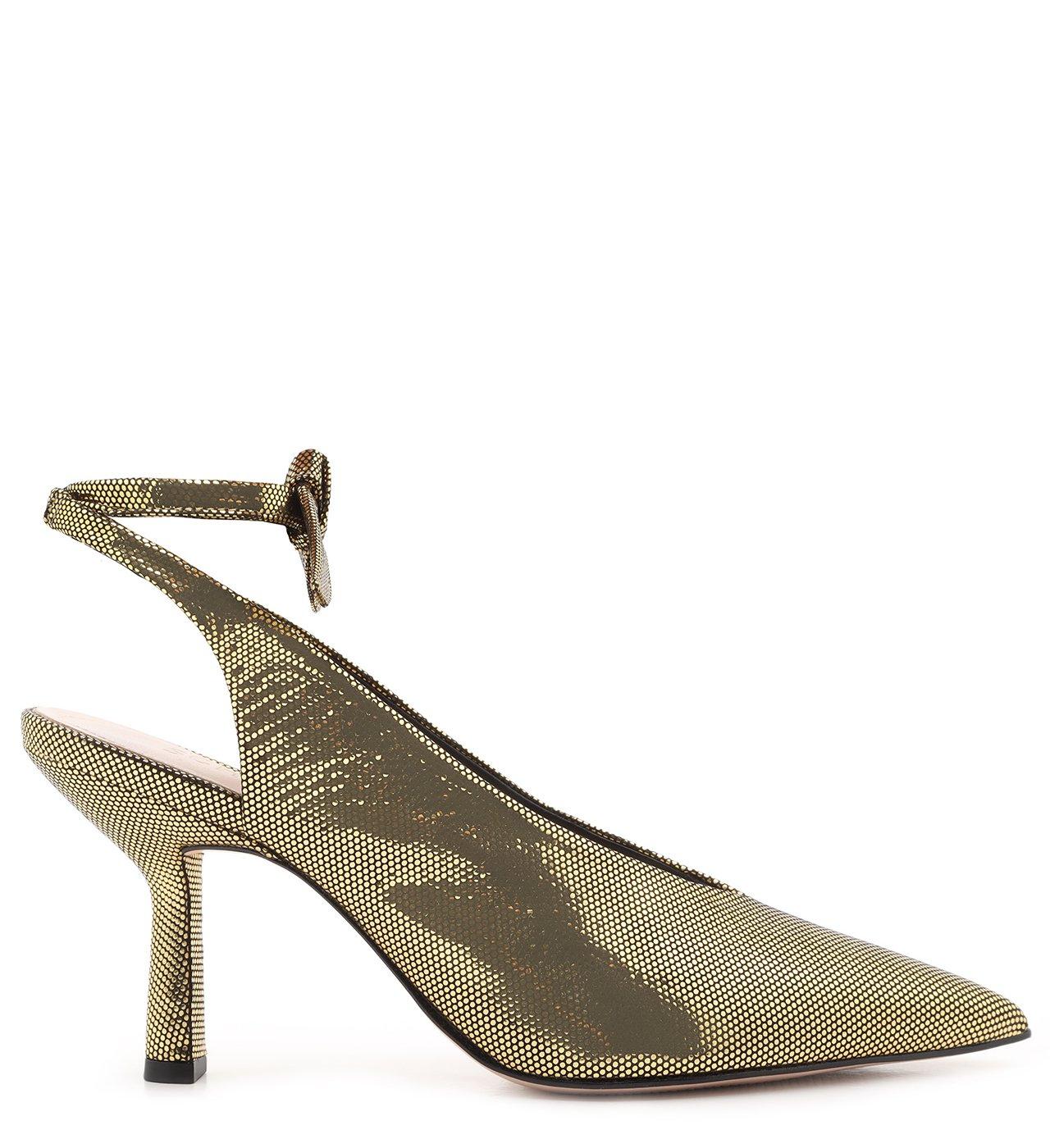 Scarpin Lace-Up Metallic Gold | Schutz