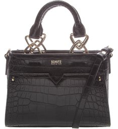 Mini Tote Croco Black