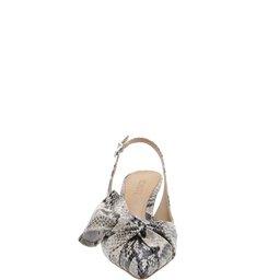 Scarpin Cindy Slingback Kitten Heel Bow Python