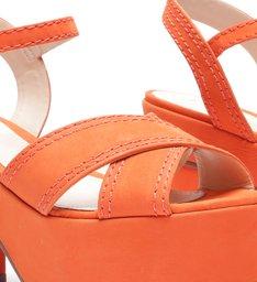 Sandália Meia Pata Nobuck Orange