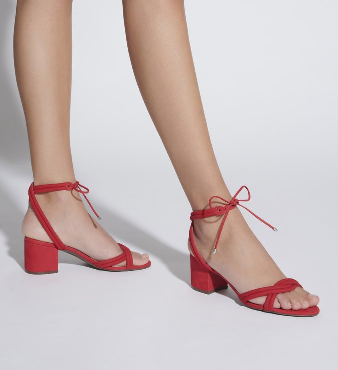 SANDÁLIA BLOCK HEEL STRINGS RED