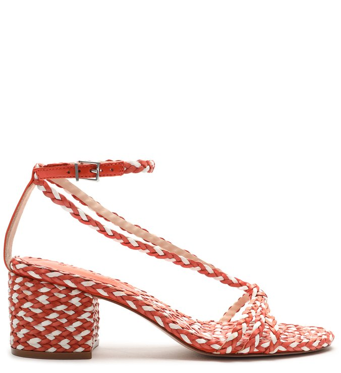 Sandália Block Heel Freshfull Braid Orange