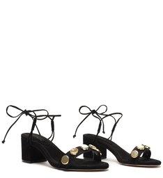 Sandália Dalto Bloco Glam Stones Preta