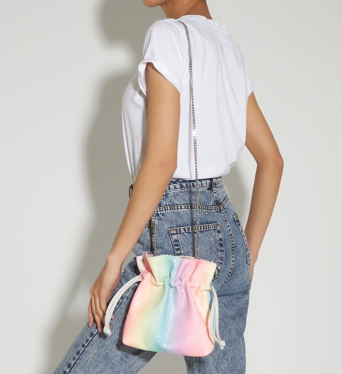 Crossbody Bucket Liv Rainbow/White