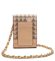 Crossbody New 4GIRLS Triangle Amendoa