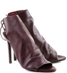 Ankle Boot Amarração Vino