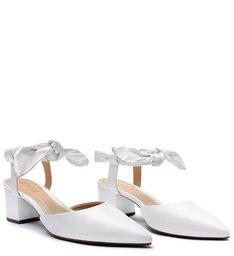 Sapato Bico Fino Block Heel Honey