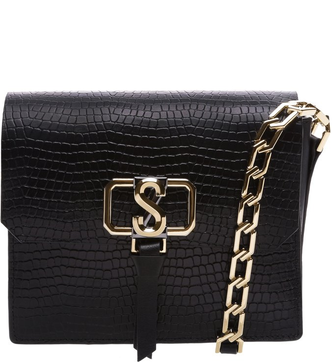 Crossbody Eva Croco Black | Schutz