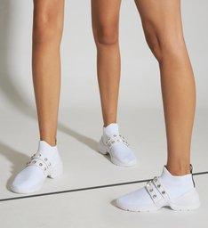 Tênis Knit Crystal White
