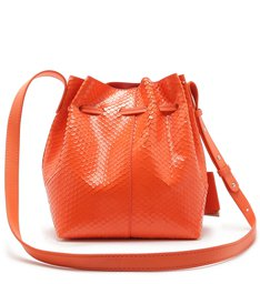 EMILY MINI BUCKET BRIGHT SNAKE ORANGE