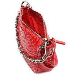 Bolsa Tiracolo Pequena Emmy Snake Vermelha
