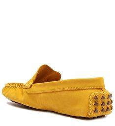 Sapato Mocassim Triangle Nobuck Amarelo