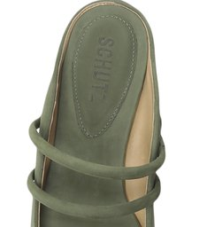 Sapato Mule Bico Fino Camurça Verde