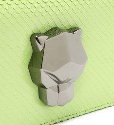 Bolsa Carteira Mini Icon Panther Couro Snake Verde