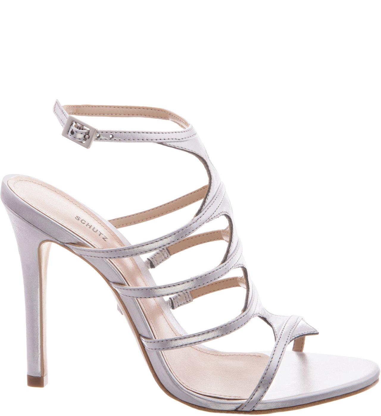 Sandália Skin Glam Stiletto Prata | Schutz