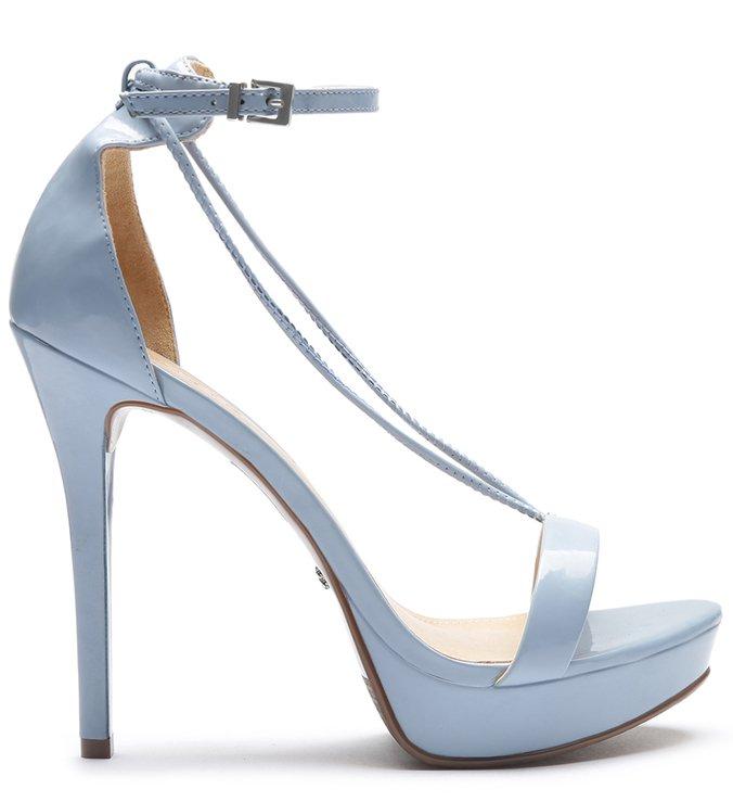 Sandália Thin Strap Stiletto Jeans