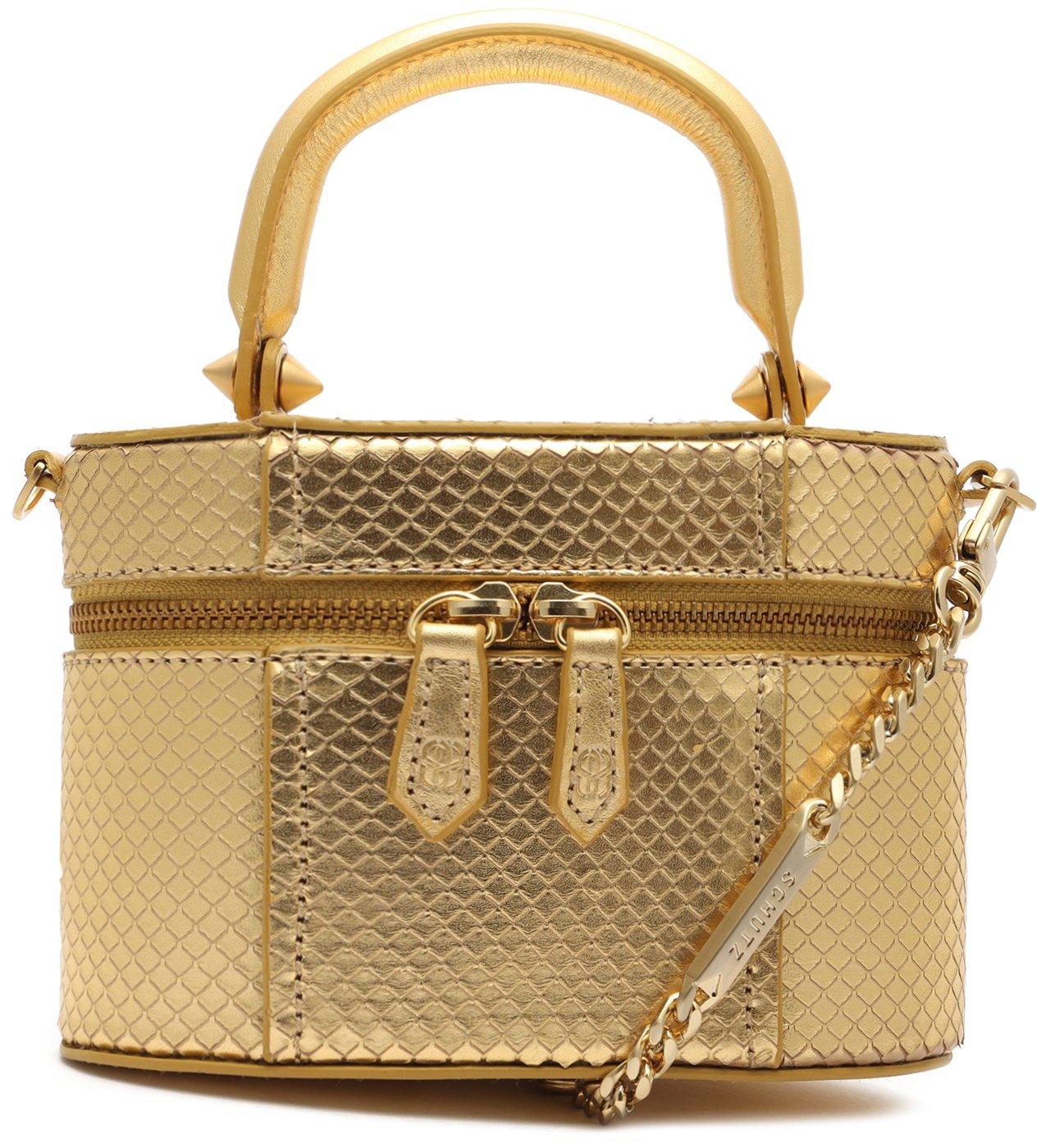 Bolsa Tiracolo Vanity Couro Dourada | Schutz