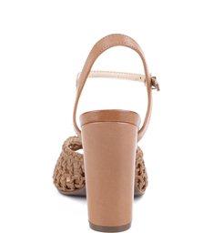 Sandália Salto Bloco Treliça  Bamboo