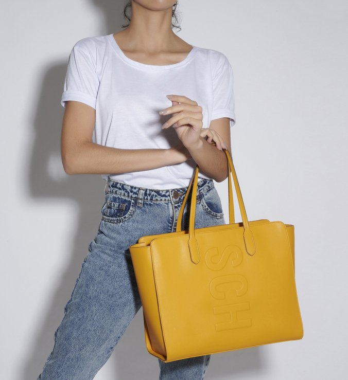 SHOPPING BAG SCH BASICS YELLOW