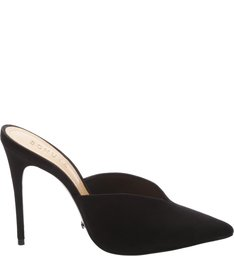Mule Vamp High Heel Black