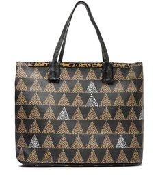 Bolsa Shopping Grande Nina Triangle Onça
