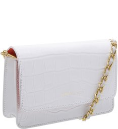 Crossbody 4 Girls Lorena Croco White