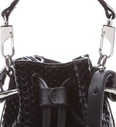 Bucket Bag Bright Snake Black