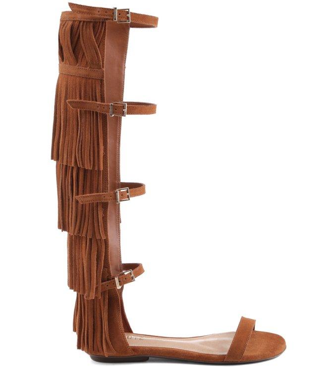 Gladiadora Fringes Camel