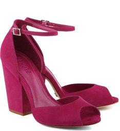 Sandália Basic Salto Bloco True Pink