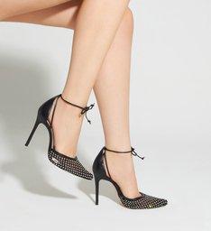 Scarpin Delicate Tela Glam Black