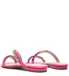 Rasteira Crystal Glam Neon Pink