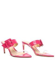 Sandália Mule Verniz Pink