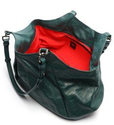 Bolsa Shopping Grande Lauren Couro Verde