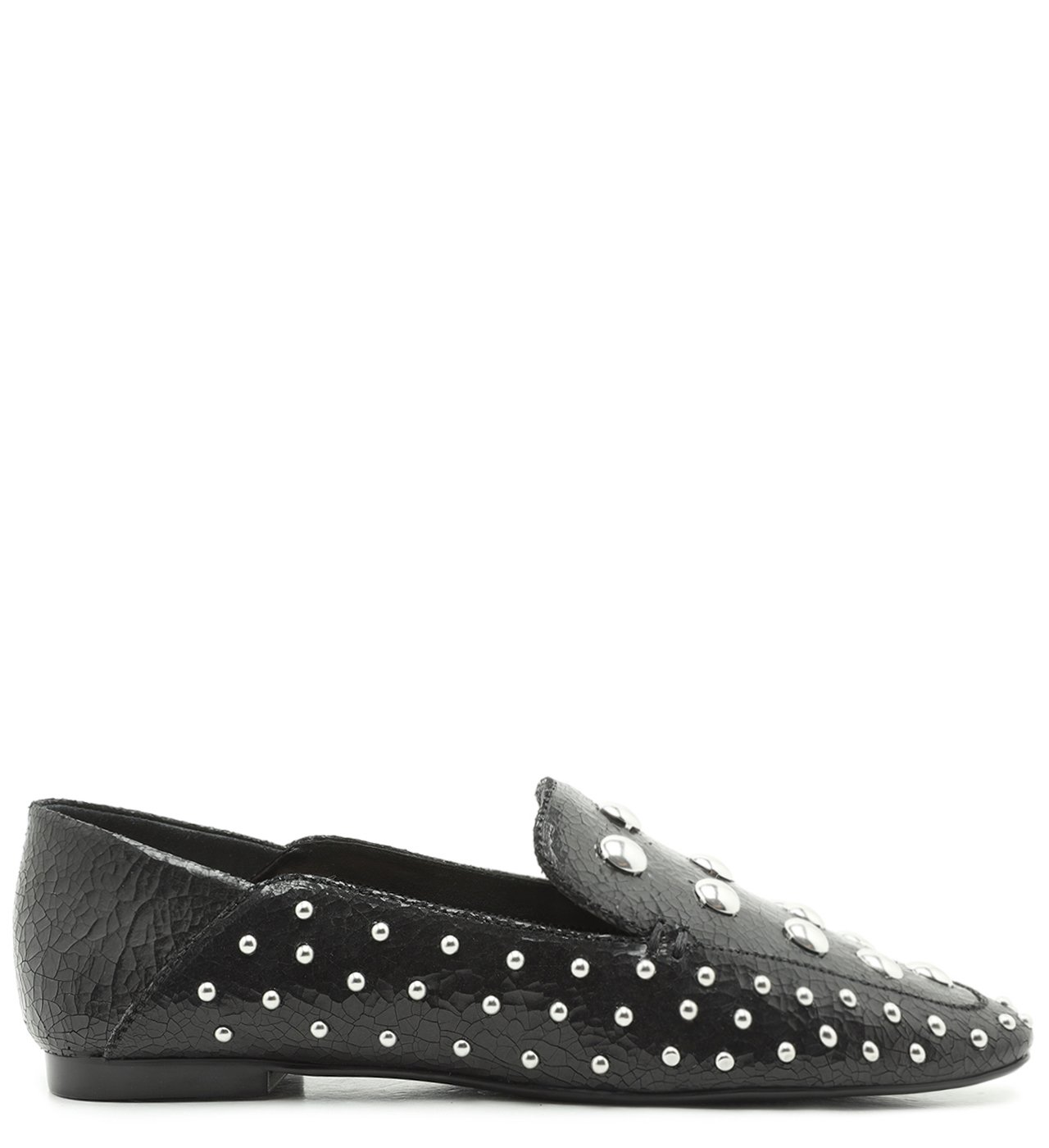 Mocassim Studs Cracked Black | Schutz