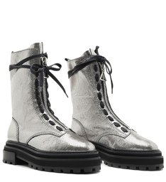 Coturno High Club Bikers Metallic Prata