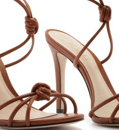 Sandália Salto Strings Knot Brown