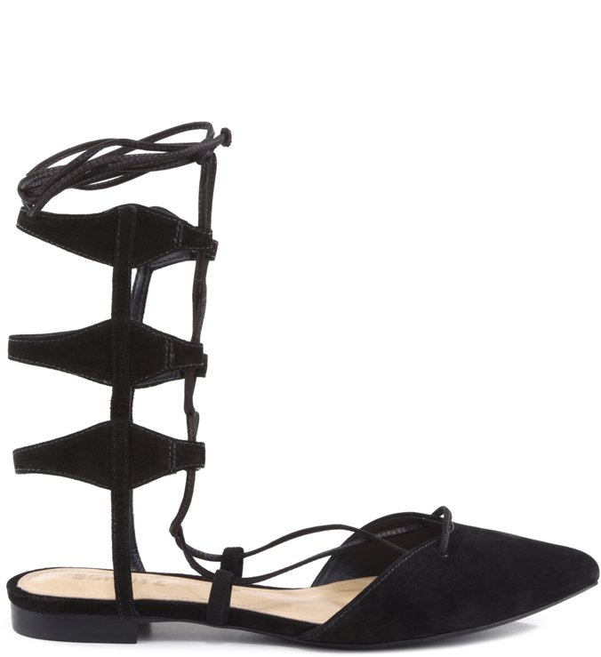 Sapatilha Gladiadora Lace Up Black