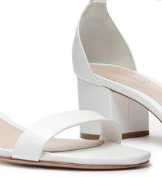 Sandália Block Heel White