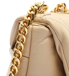 Bolsa Tiracolo Pequena Couro Treasure Bege