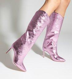 Bota Maryana Salto Metallic Pink