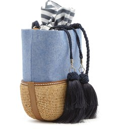 VALLIE BUCKET BAG RAFIA JEANS